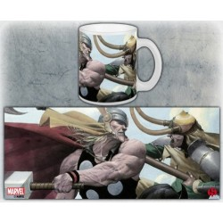 TAZA MARVEL THOR VS LOKI
