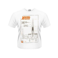 CAMISETA STAR WARS EPISODIO 7 PLANOS X-WING XXL