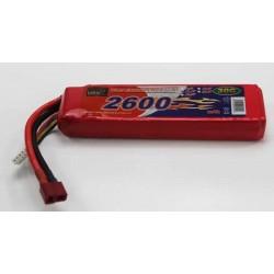 BATERÍA LIPO 11.1V 2600MHA 30C T-DEAN 137X37X20MM