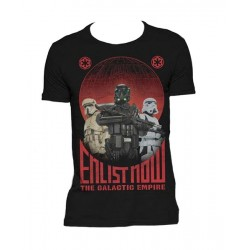 CAMISETA STAR WARS ROGUE ONE ENLIST NOW XL