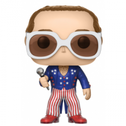 FIGURA POP ROCK ELTON JOHN BLUE RED AND WHITE