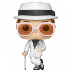 FIGURA POP ROCK ELTON JOHN WHITE