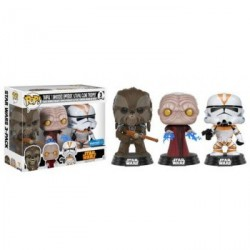 FUNKO POP PACK STAR WARS: TARFUL, EMPEROR & UTUPAU