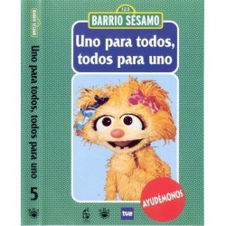 BARRIO SESAMO UNO PARA TODOS, TODOS PARA UNO DVD 2003