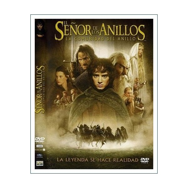 EL SEÑOR DE LOS ANILLOS LA COMUNIDAD 2 DISCOS DVD 2001