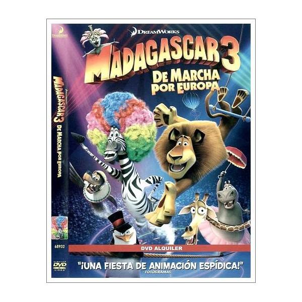 MADAGASCAR 3 DE MARCHA POR EUROPA DVD 2012