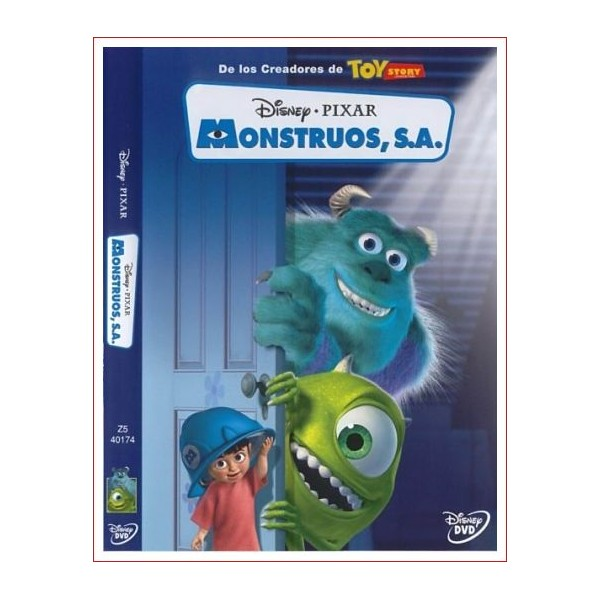 MONSTRUOS SA Dvd 2001 Dirección Pete Docter, Lee Unkrich