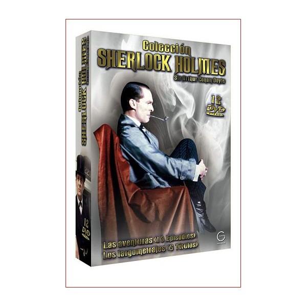 COLECCIÓN SHERLOCK HOLMES SIR ARTHUR CONAN DOYLE 12 DVD