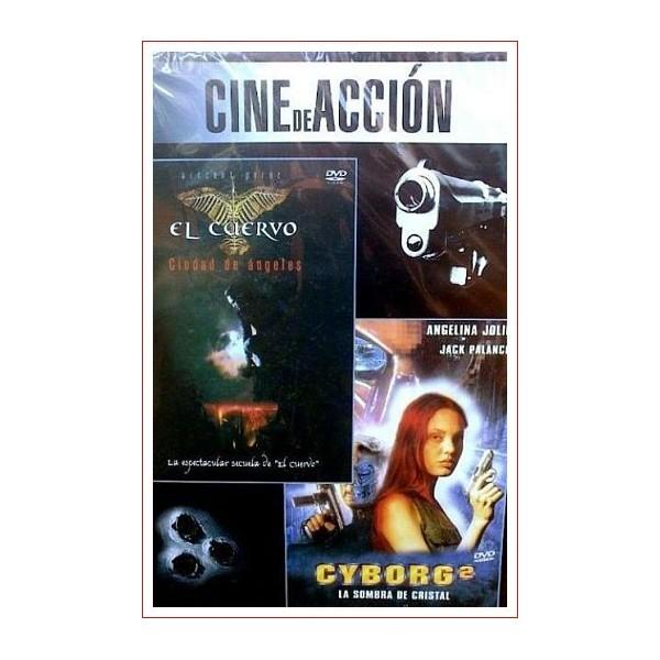 CINE DE ACCION EL CUERVO + CYBORG 2 DVD 1993 - 1995