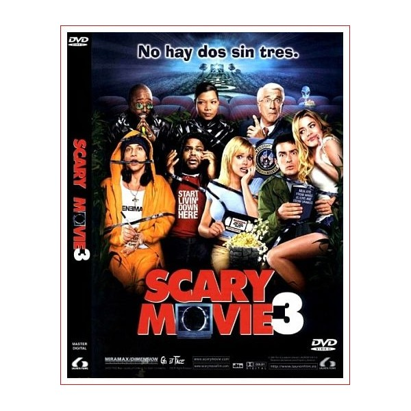 SCARY MOVIE 3 DVD Comedia 2003 Dirección David Zucker