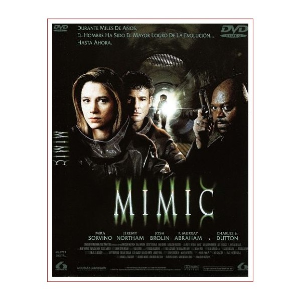 MIMIC DVD 1997 película de terror Monstruos Dir. Guillermo del Toro