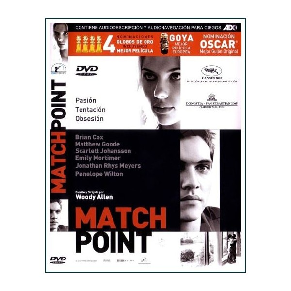 MATCH POINT 2005 Dvd dirigida por Woody Allen