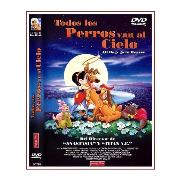 TODOS LOS PERROS LOS PERROS VAN AL CIELO DVD Infantil 1989
