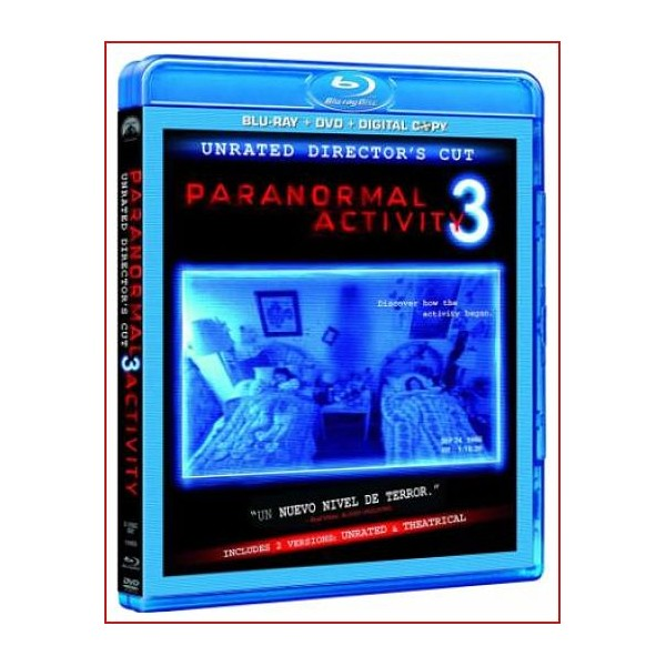 PARANORMAL ACTIVITY 3 BLU RAY 2011Sobrenatural Dirección Henry Joost