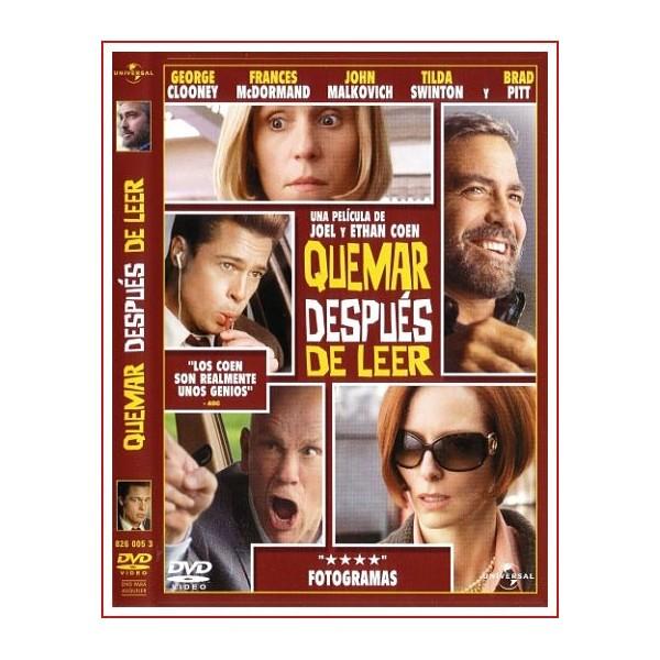 QUEMAR DESPUES DE LEER DVD 2008 Dirección Joel Coen, Ethan Coen