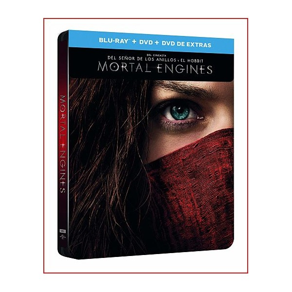 MORTAL ENGINES BD + DVD + DVD EXTRAS 2018 Director Christian Rivers
