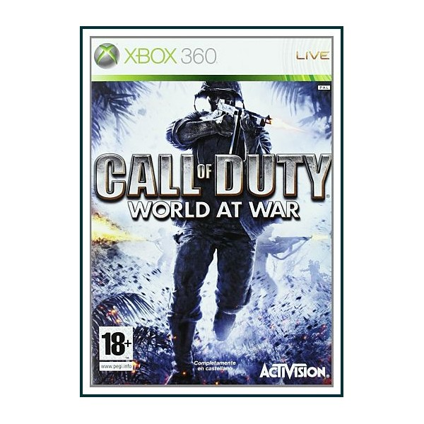 CARATULA CALL OF DUTY 5 WORLD AT WAR PARA XBOX 360