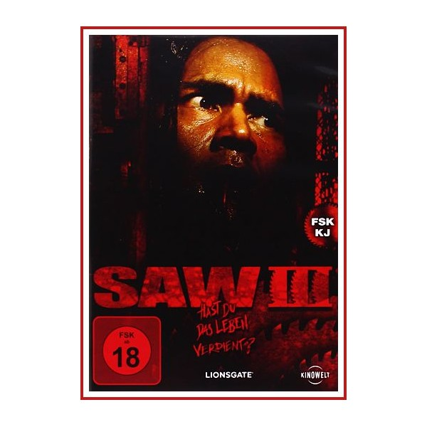 SAW III DVD 2006 HAST DU DAS LEBEN VERDIENT? Dir. Darren Lynn Bousman