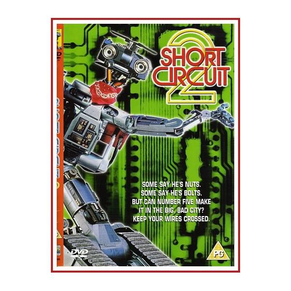 CARATULA SHORT CIRCUIT 2 (DVD 1988) Dirigida por Kenneth Johnson