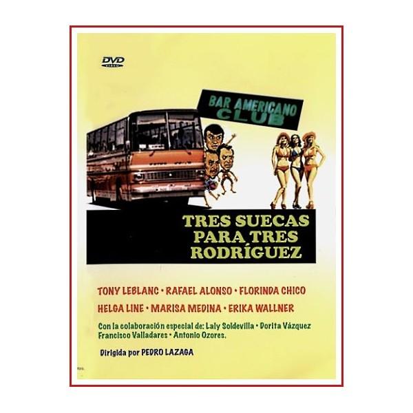 TRES SUECAS PARA TRES RODRÍGUEZ DVD 1975 Dirección Pedro Lazaga