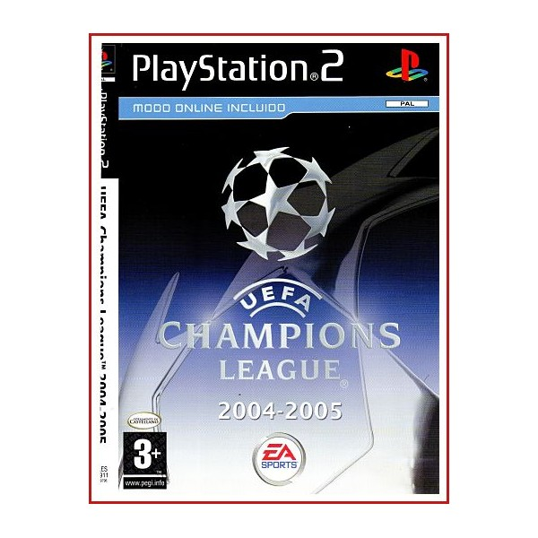 CARATULA ORIGINAL PS2 UEFA CHAMPIONS LEAGUE 2004-2005