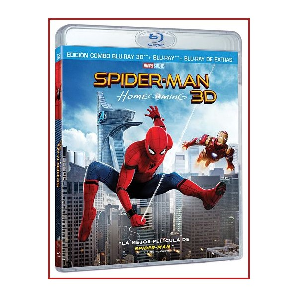 SPIDERMAN (HOMECOMING) BLU RAY 3D 2017 Dirigida por Jon Watts