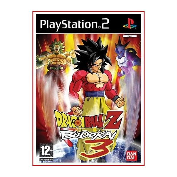 CARATULA PS2 DRAGON BALL Z BUDOKAN 3