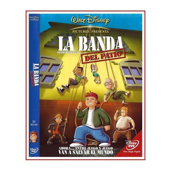CARATULA ORIGINAL DVD LA BANDA DEL PATIO (AHORA.... ENTRE JUEGO Y JUEGO VAN A SALVAR EL MUNDO)