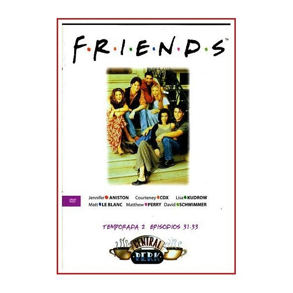 FRIENDS TEMPORADA 2 DISCO 11 EPISODIOS 31-33