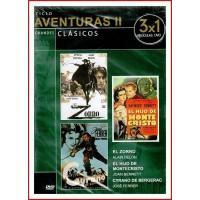 CICLO AVENTURAS II GRANDES CLÁSICOS 3X1 PELÍCULAS