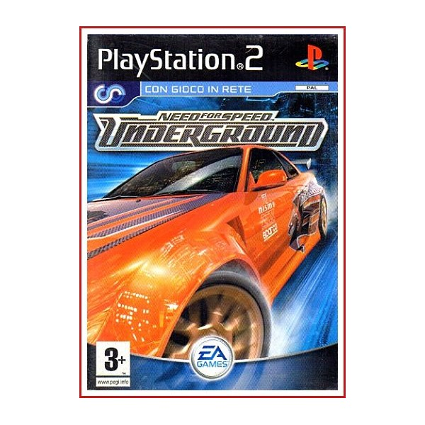 CARATULA ORIGINAL PS2 NEED FOR SPEED UNDERGROUND