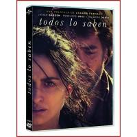 TODOS LO SABEN DVD 2018 CINE ESPAÑOL Director Asghar Farhadi