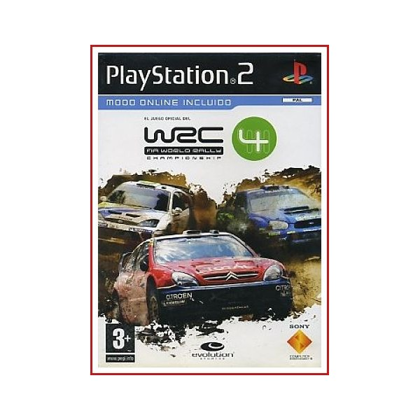 CARATULA ORIGINAL PS2 WEC 4 (FIA WORLD RALLY)