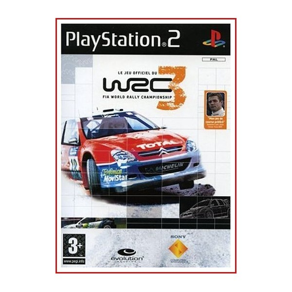 CARATULA ORIGINAL PS2 WEC 3 (FIA WORLD RALLY CHAMPIONSHIP)