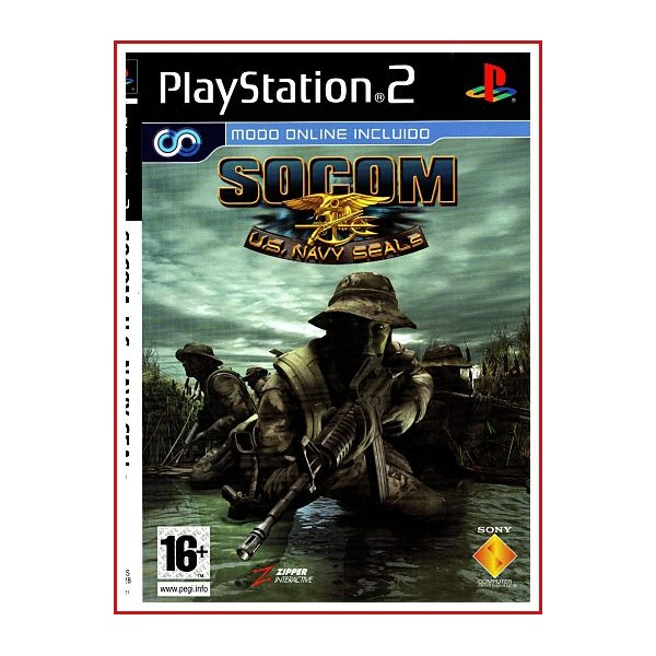 CARATULA ORIGINAL PS2 SOCOM U.S. NAVY SEALS