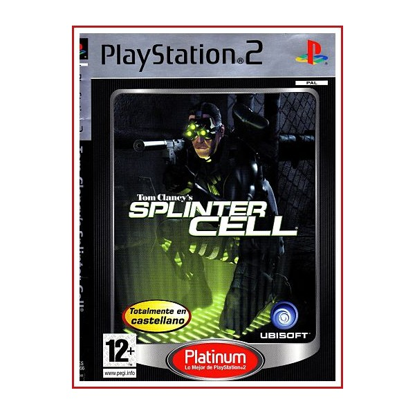 CARATULA ORIGINAL PS2 SPLINTER CELL TOM CLANCY'S