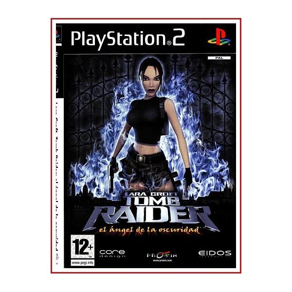 CARATULA ORIGINAL PS2 LARA CROFT TOMB RAIDER