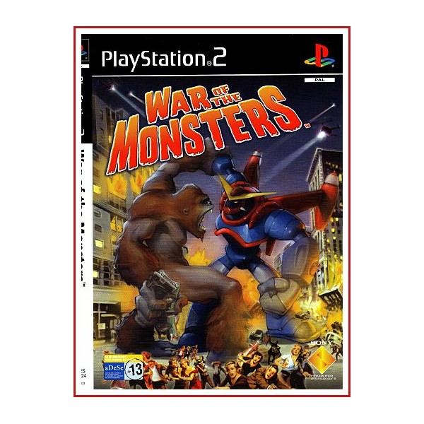 CARATUL ORIGINAL PS2 WAR OF THE MONSTERS
