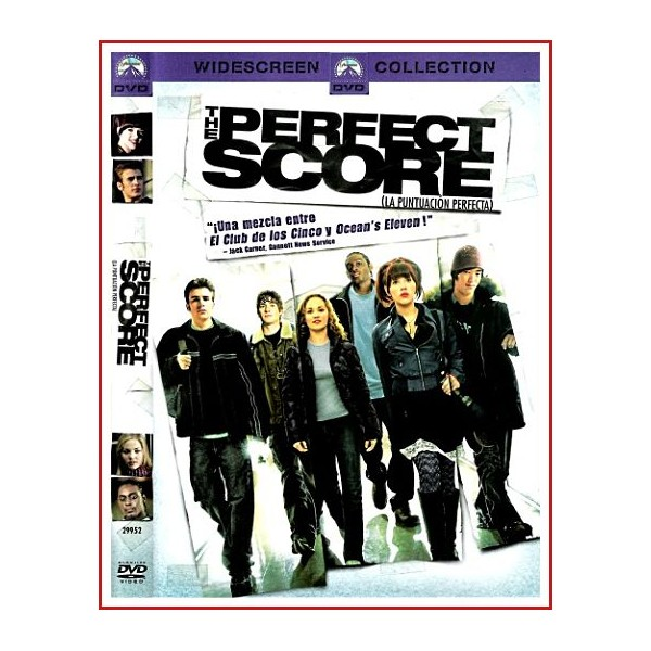 CARATULA DVD THE PERFECT SCORE (LA PUNTUACIÓN PERFECTA)