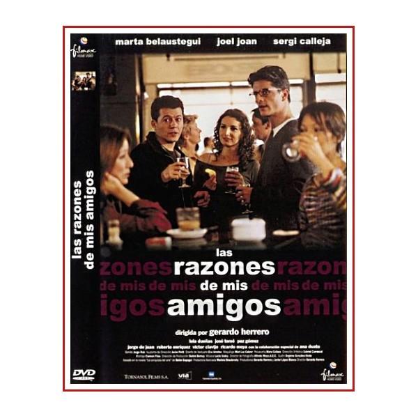 CARATULA ORIGINAL DVD LAS RAZONES DE MIS AMIGOS
