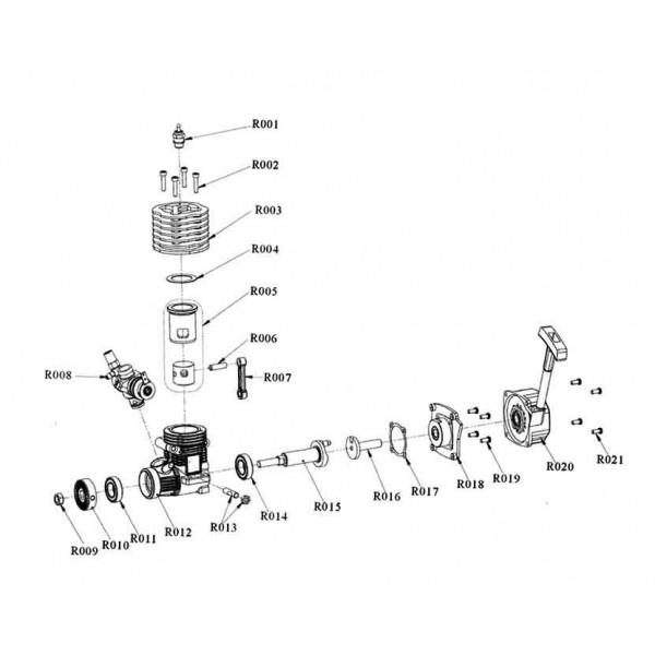 Tornillos culata motor Vertex 18CXP