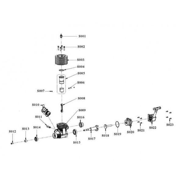 Culata motor Vertex 21CXP