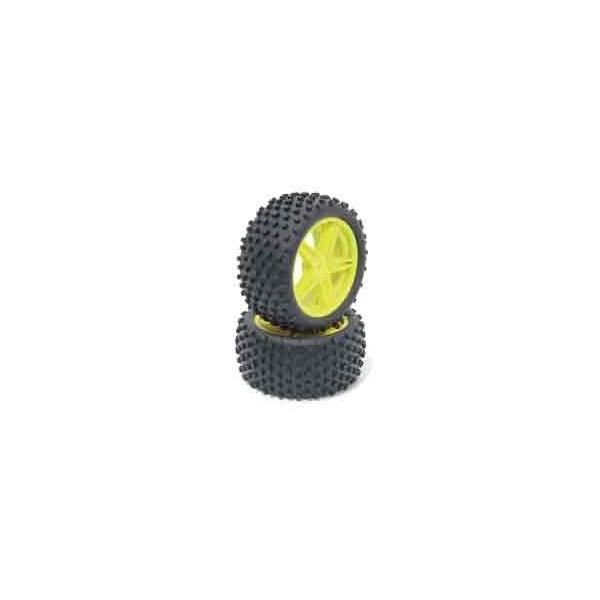 Neumáticos con llanta 1/10 T T Buggy Delanteros VERDES