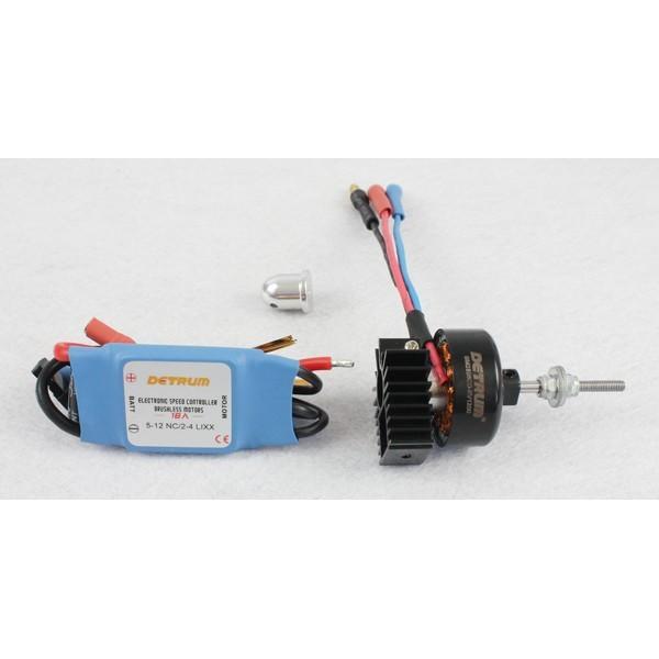 Motor KV1200 y Variador Brushless 18amp Detrum