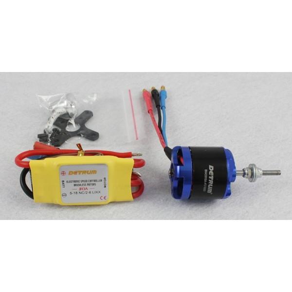 Motor KV950 y Variador Brushless 30amp Detrum
