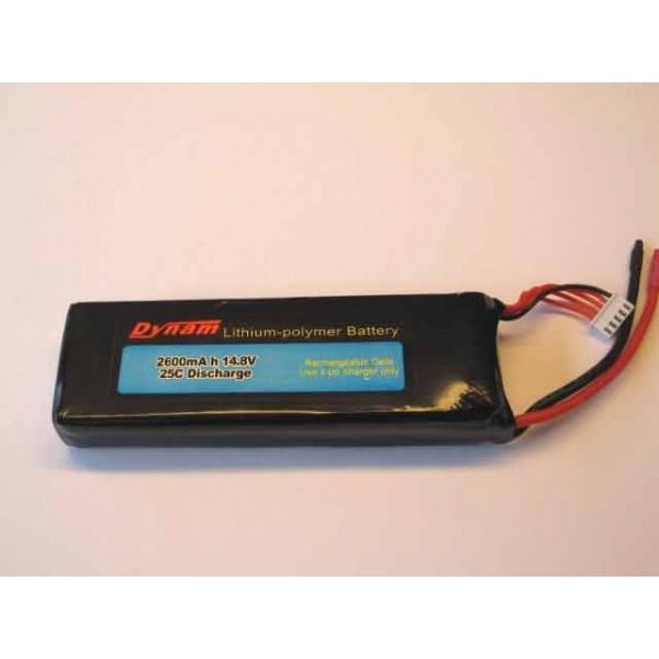 Batería Lipo 14.8vol y 2600mha 25C Descarga Dynam