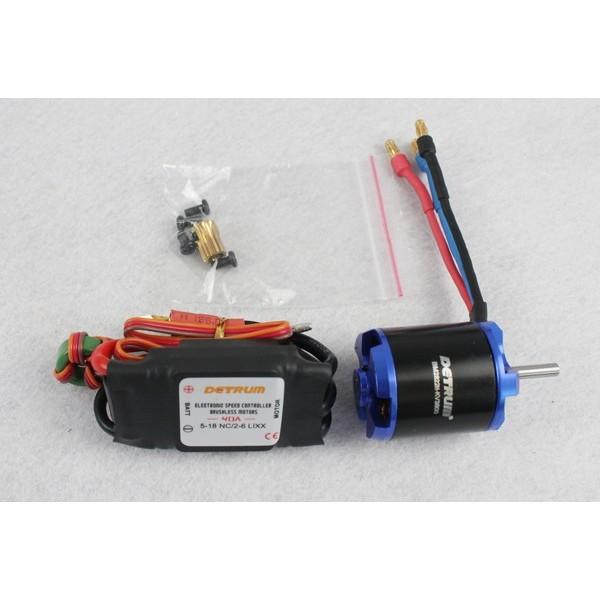 Motor KV3800 y variador Brushless 40Amp Detrum