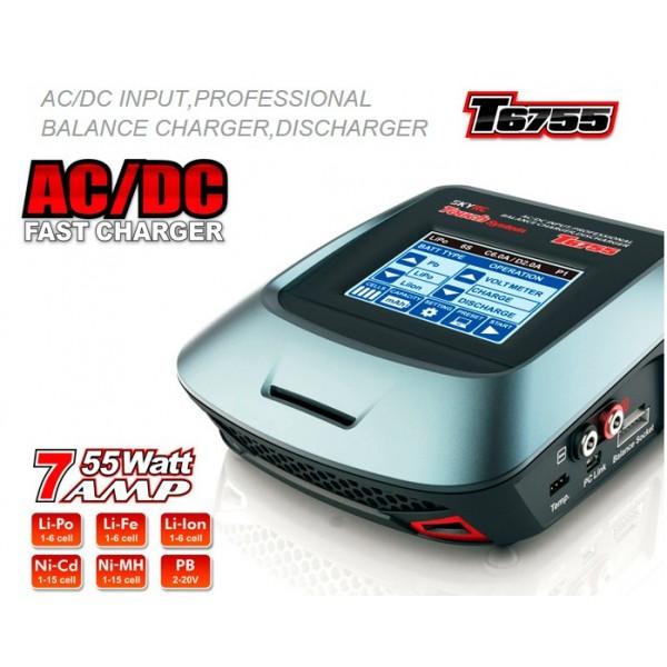 Cargador T6755 Táctil LIPO/NI-MH/NI-CD/LiION/LIFE/PB
