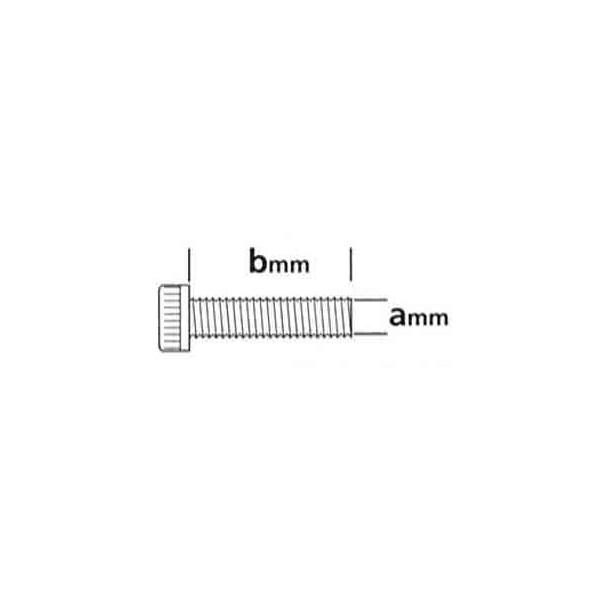 Tornillos R Métrica Cab Allen 3x28