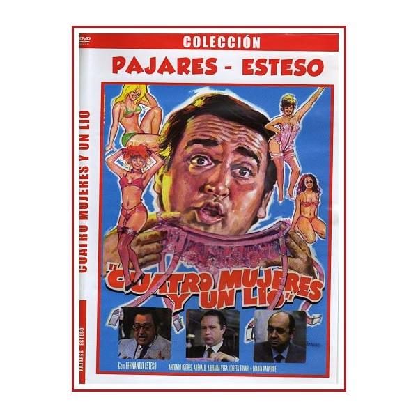 CUATRO MUJERES Y UN LIO DVD 1985 CINE ESPAÑOL Director Mariano Ozores